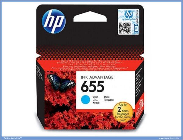 HP No.655 CZ110AE Cyan Ink Cartridge