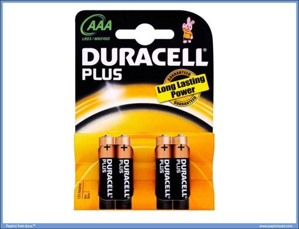 Baterije alkalne LR03 AAA 1/4, DURACELL