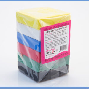 Masa za oblikovanje BEOLIN PLUS 500gr 6 boja