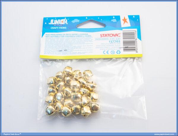 Kreativni pribor ZLATNA ZVONCA 10mm, Junior