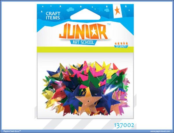 Kreativni pribor ZVEZDICE 25mm 14gr, Junior
