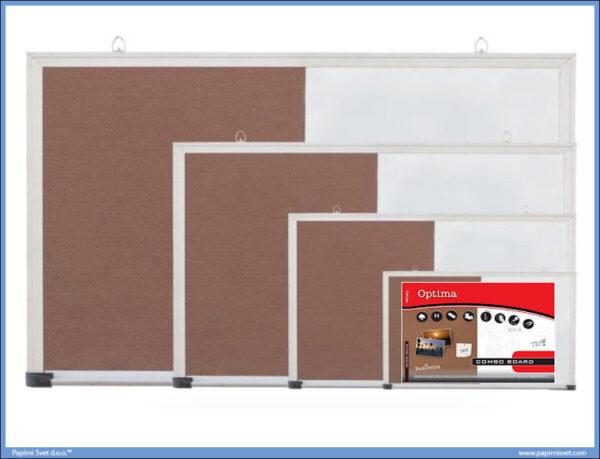 Tabla kombinovana BELA-PLUTO 90x120 aluminijumski ram, Optima
