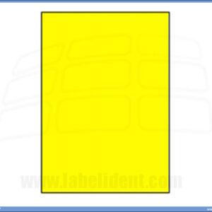 Etikete A4 ŽUTE 210x297 1/100, Ramipa