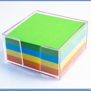 Blok kocka MIX BOJE sa pvc kutijom 102x102mm, Campap