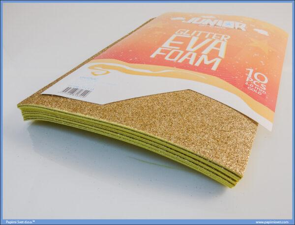 Pena karton A4 EVA GLITTER ZLATNI 1/10, Junior