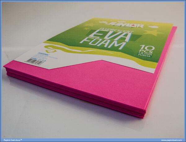 Pena karton A4 EVA FLUO FUSCIA PINK 1/10, Junior