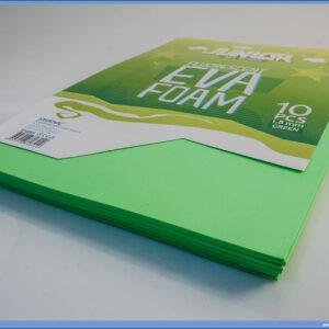 Pena karton A4 EVA FLUO ZELENI 1/10, Junior