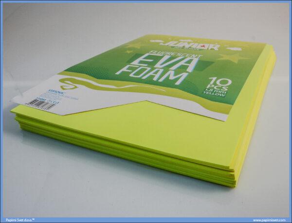 Pena karton A4 EVA FLUO ŽUTI 1/10, Junior
