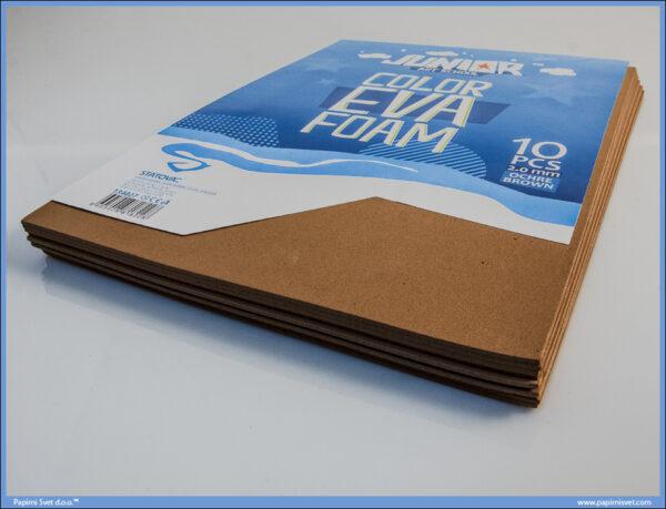 Pena karton A4 EVA BRAON 1/10, Junior