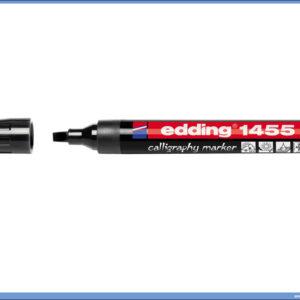 Kaligrafski marker kosi vrh CRNI 1-5mm, Edding