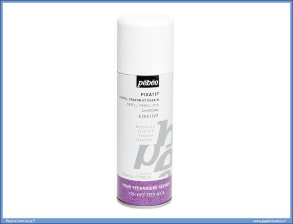 Fiksativ za pastelne boje i ugljen 200ml, Pabeo