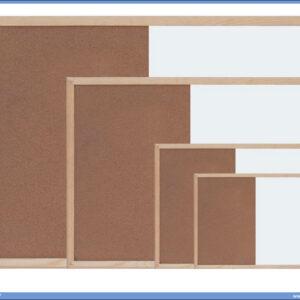 Tabla kombinovana BELA-PLUTO 90x120 drveni ram, Optima