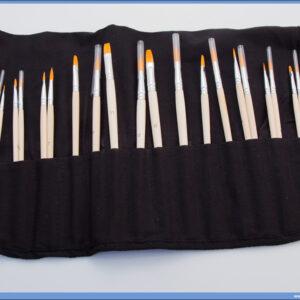 Četkice slikarske u setu 10+10 sa sintetičkom dlakom, Standart