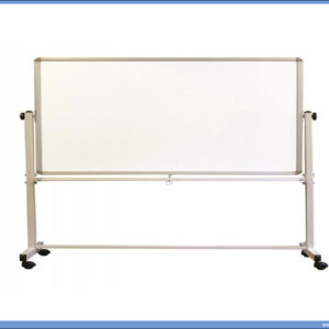 Bela tabla magnetna POKRETNA-OKRETNA 90x120cm