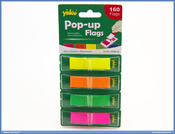 Page markeri Pop Up SN5410 flags 12x45 4/40, Yidoo