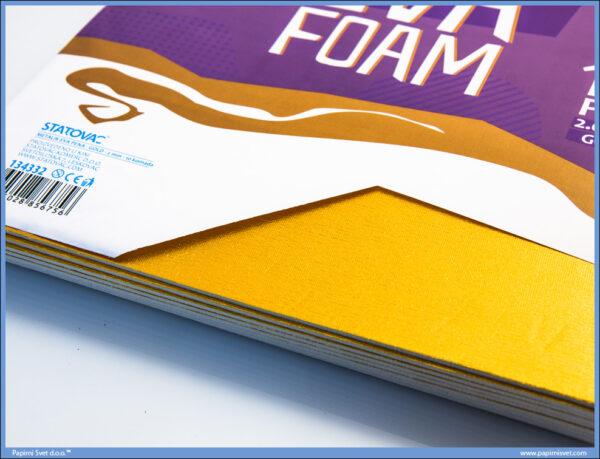 Pena karton A4 EVA METALIK GOLD 1/10, Junior