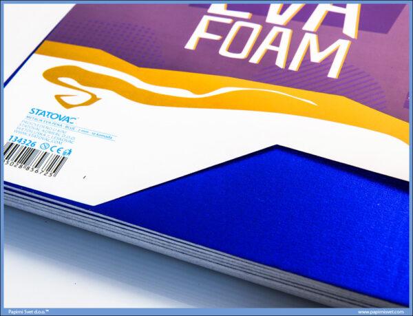 Pena karton A4 EVA METALIK PLAVA 1/10, Junior