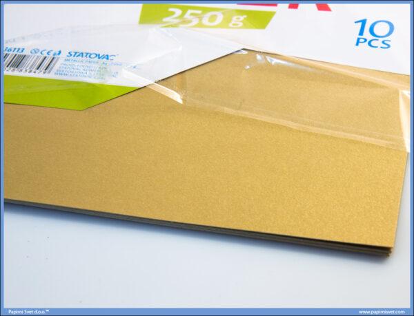 Karton papir 250gr METALIK A4 ZLATNI 1/10, Junior
