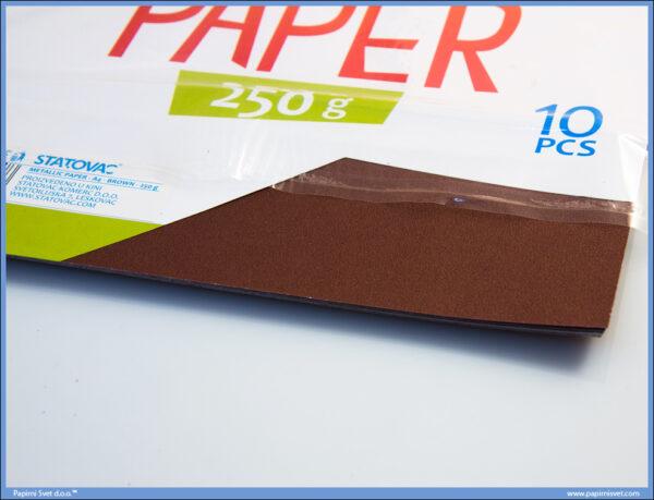 Karton papir 250gr METALIK A4 BRAON 1/10, Junior