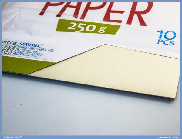 Karton papir 250gr METALIK A4 KREM 1/10, Junior