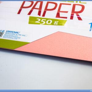 Karton papir 250gr METALIK A4 PINK 1/10, Junior