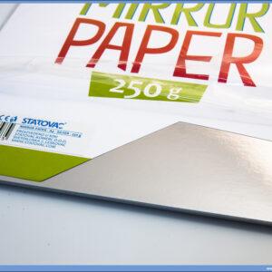Karton papir OGLEDALO 250gr SREBRNI 1/10, Junior