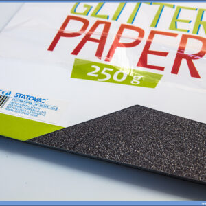 Karton papir GLITER BLACK 250gr CRNI 1/10, Junior