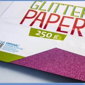 Karton papir GLITER PINK 250gr 1/10, Junior