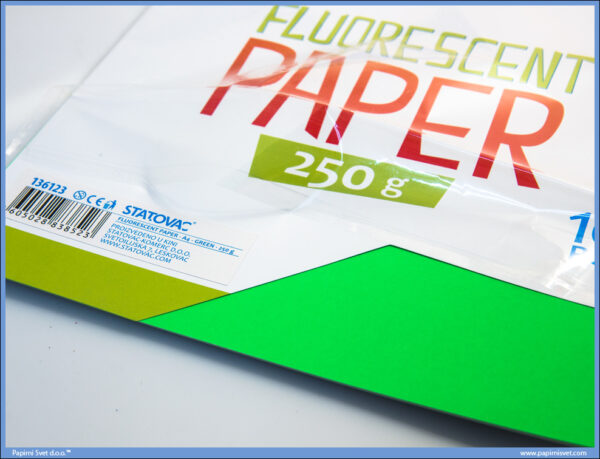 Karton papir FLUO GREEN 240gr ZELENI 1/10, Junior