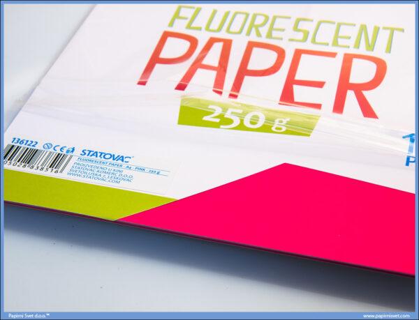 Karton papir FLUO PINK 240gr 1/10, Junior