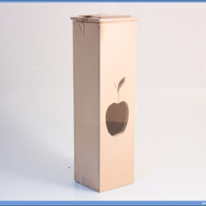 Dekupaž kutija za flašu JABUKA