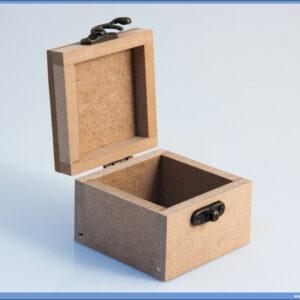 Dekupaž kutija za nakit 7,5x7,5cm