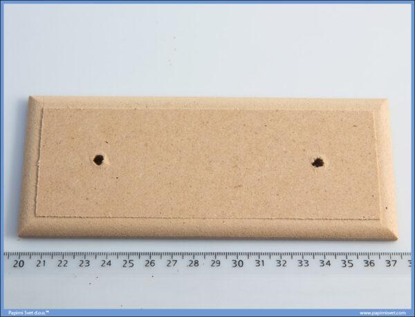 Dekupaž pločice za vrata 17,5x7cm