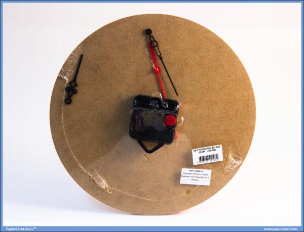 Dekupaž okrugla podloga za sat 25cm sa mehanizmom