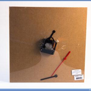 Dekupaž kvadratna podloga za sat sa mehanizmom