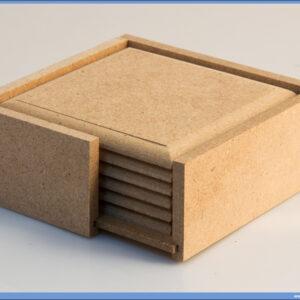 Dekupaž podmetači u kutiji 6 komada
