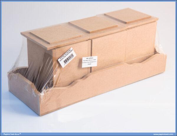 Dekupaž kutije za začine 3 komada sa postoljem