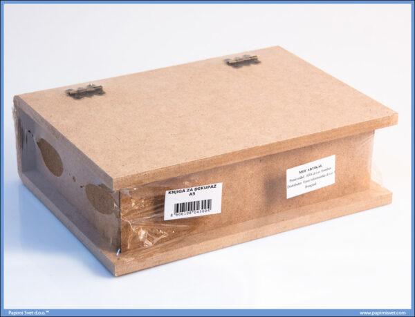 Dekupaž kutija za knjigu format A5