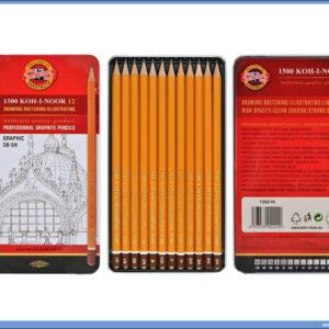 Grafitne olovke u setu 5B-5H Koh-I-Noor