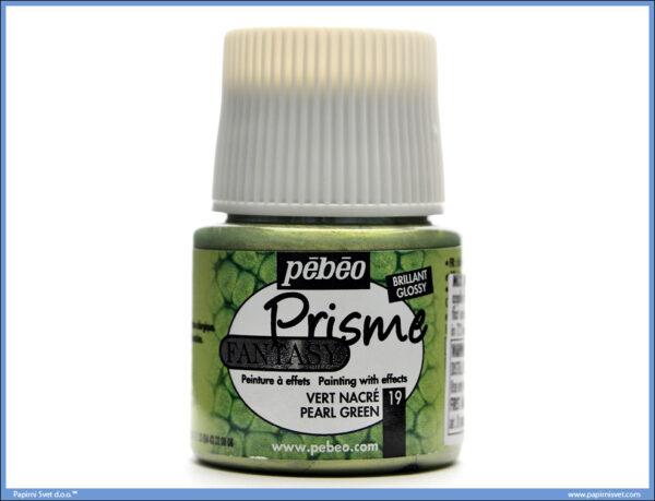 Dekorativna boja PEARL GREEN 19 Fantasy Prisme, Pebeo