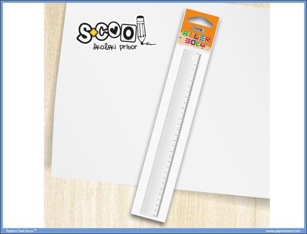 Lenjir PVC 30cm, S-COOL