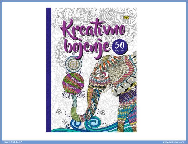 Bojanka za SVE - Kreativno bojenje A4 50 motiva TVRDI POVEZ