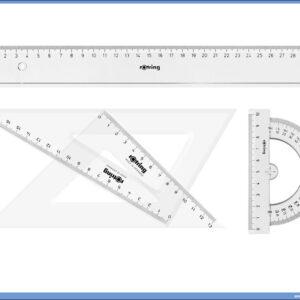 Geometrijski set lenjira i trouglova CENTRO, Rotring