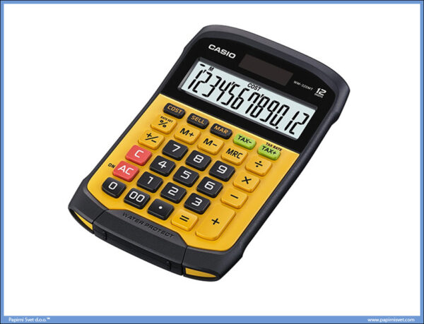 Vodootporni Kalkulator-Digitron 12 mesta WM-320MT, Casio