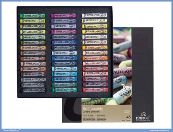 Suvi pastel 1/45 u kutiji SOFT PASTELS BOX BASIC - REMBRANDT, Talens