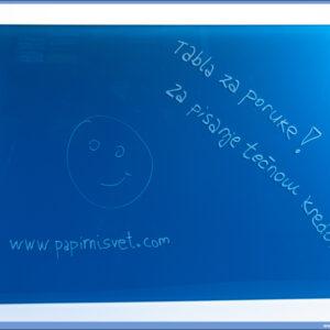 Tabla za poruke magnetna staklena PLAVA 45x60 MGB-4560WM