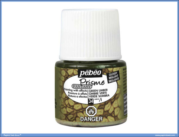 Dekorativna boja GREEN UMBER 34 Fantasy Prisme, Pebeo