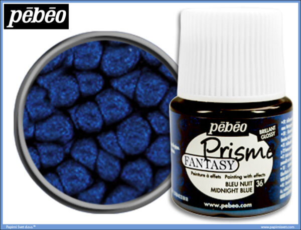 Dekorativna boja MIDNIGHT BLUE 36 Fantasy Prisme, Pebeo