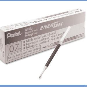 Uložak za ENERGEL 0,7mm roler CRNI, Pentel