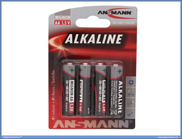 Baterije LR06 AA Alkaline 1/4, Ansmann